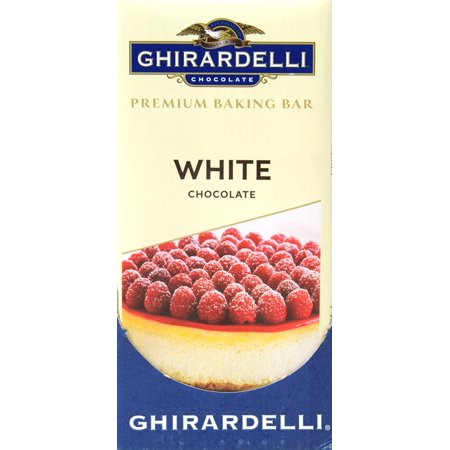 (3 Pack) Ghirardelli Chocolate White Chocolate Premium Baking Bar, 4 oz (Semi Sweet Baking Bar)