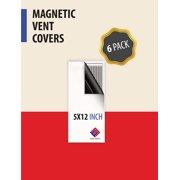 Strong Magnetic Vent Covers - Thick Magnet for Standard Air Registers - for RV, Home HVAC, AC, and Furnace Vents - Pure White Magnetic Sheet - 5 inch X 12 inch (6 Pack)