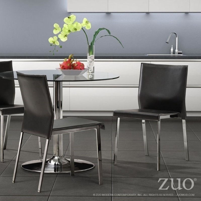 Zuo Boxter Dining Chair in Black (set of 2)