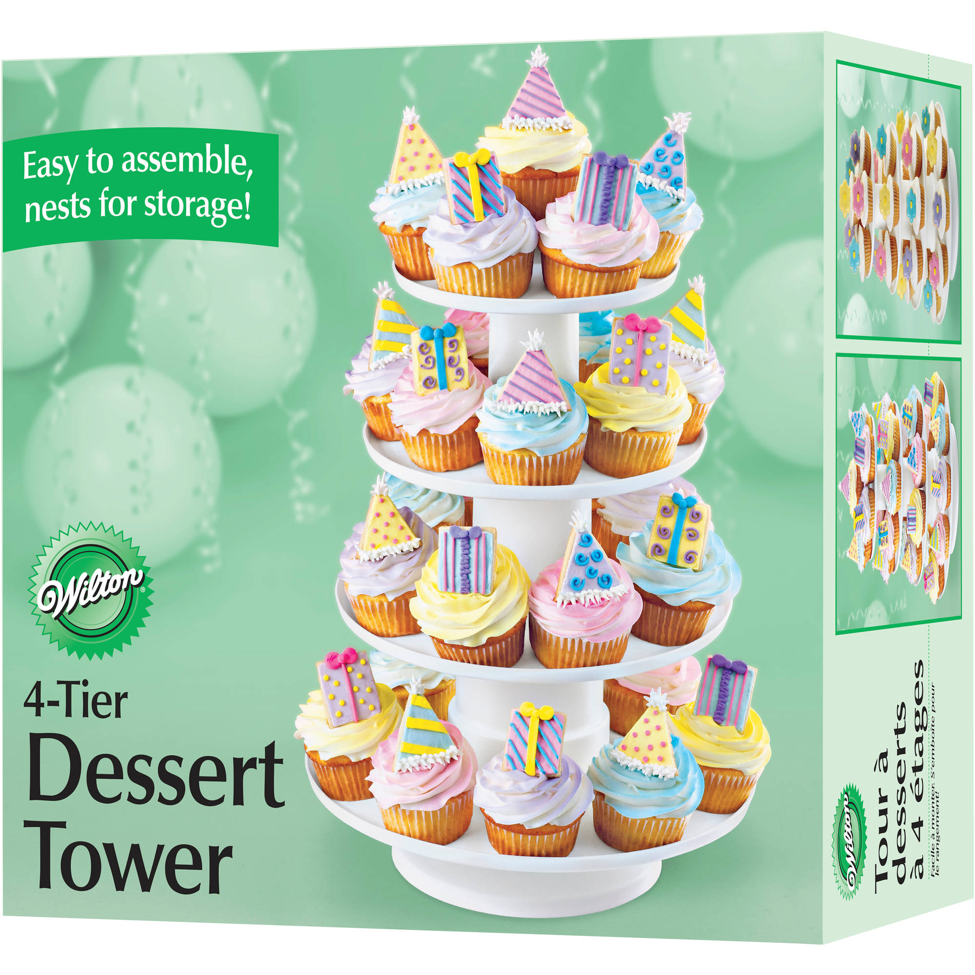 Wilton 4-Tier Dessert Tower, 36 ct. 307-856
