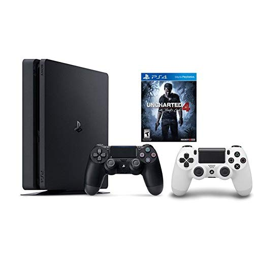 Refurbished PlayStation 4 Slim Console 2 Items Bundle PS4