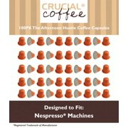 100 High Performance Replacement Coffee Capsules for Use in Most Nespresso Machines, The Afternoon Hustle is Designed & Engineered by Crucial Coffee
