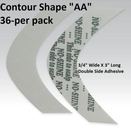 No Shine Tape Contour Shape AA Double Side Adhesive By Walker Tape