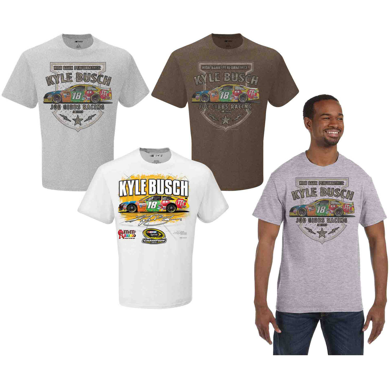 NASCAR Men's Kyle Busch 3 Pack Tee Shirts