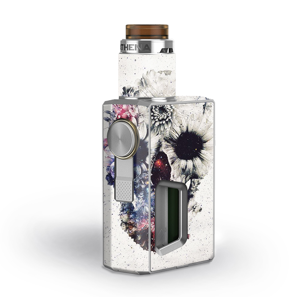 Skins Decals for GeekVape Athena Squonk Vape / Flower skull