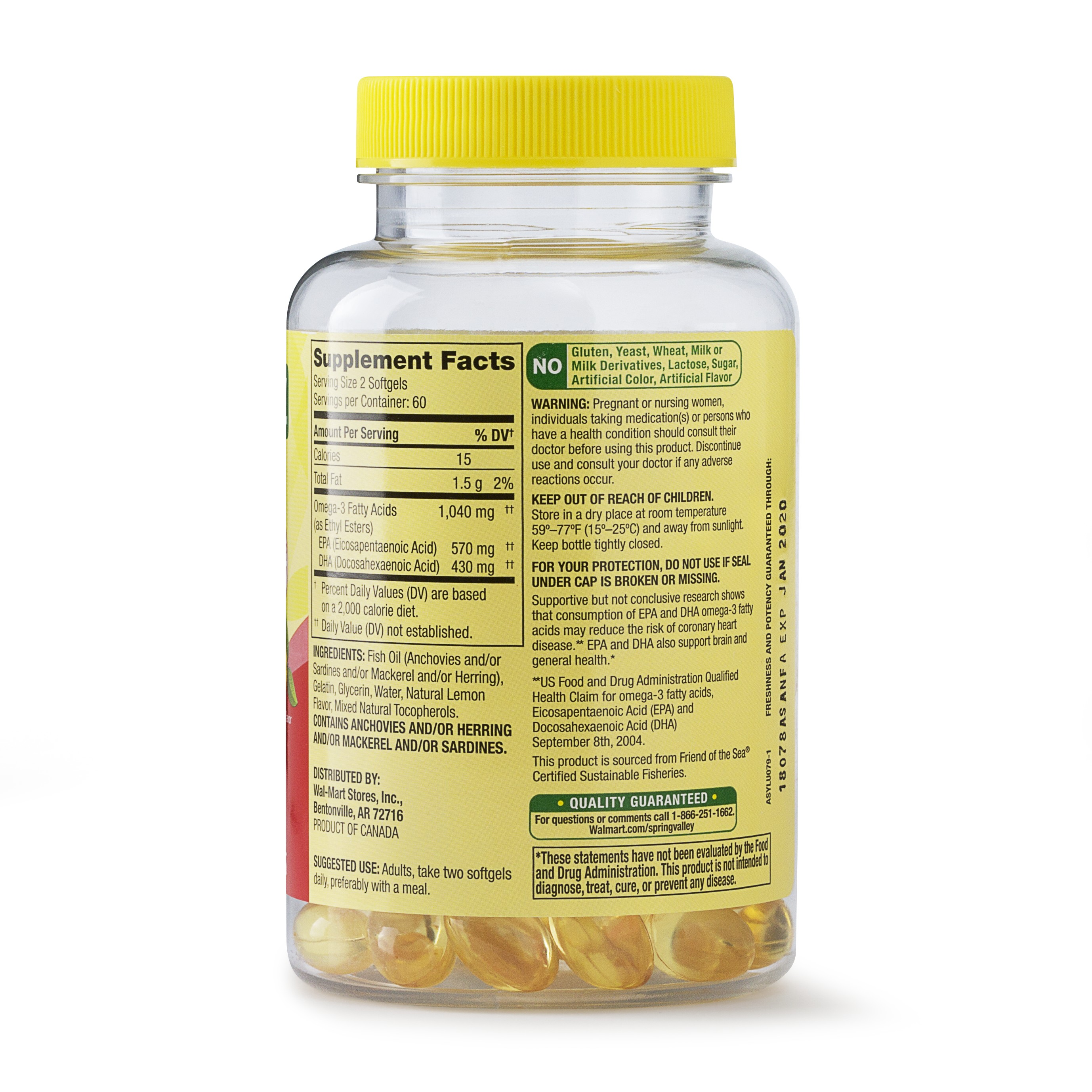 Spring Valley Omega 3 From Fish Oil 1040 Mg 120 Ct Proactive