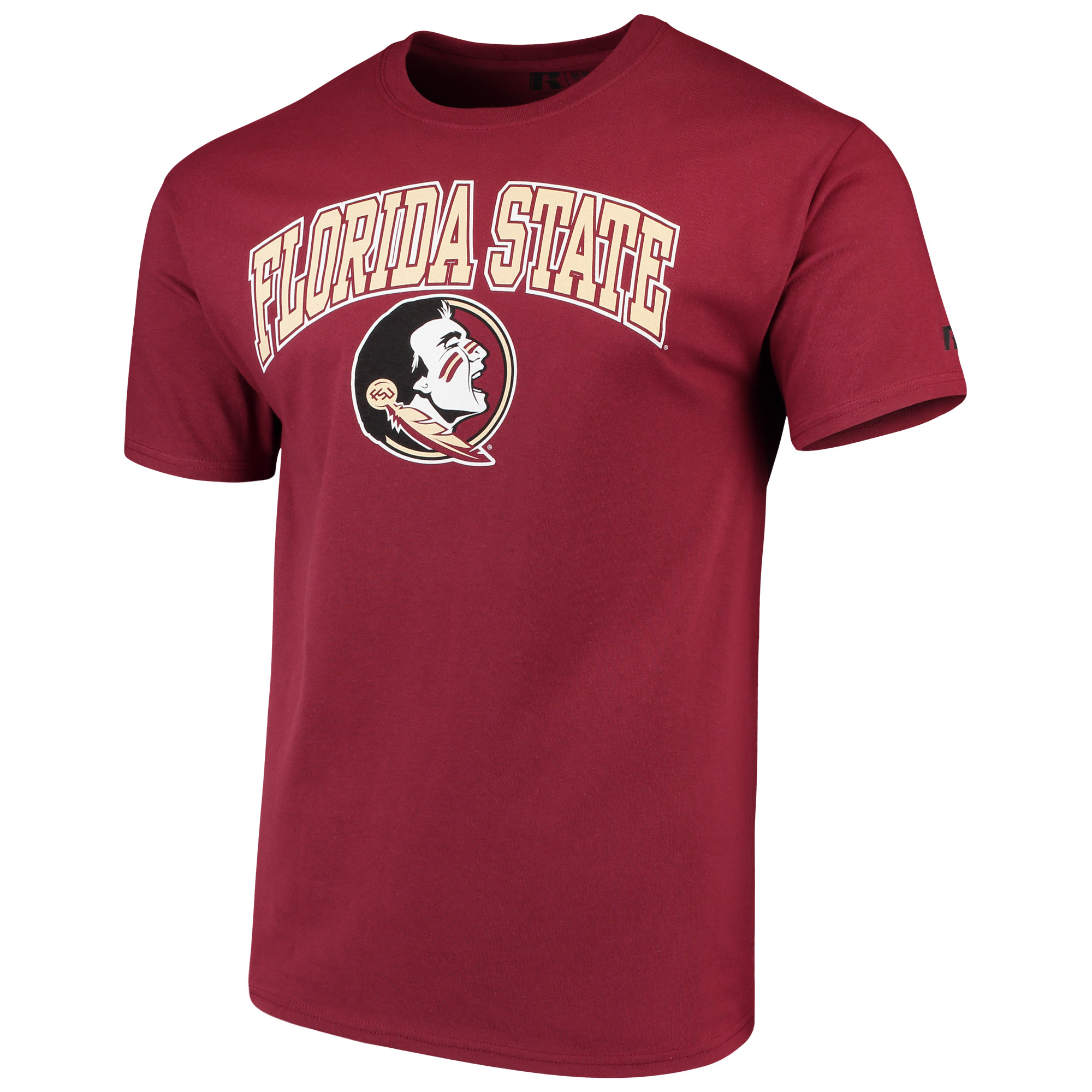 Men's Russell Garnet Florida State Seminoles Crew Core Print T-Shirt