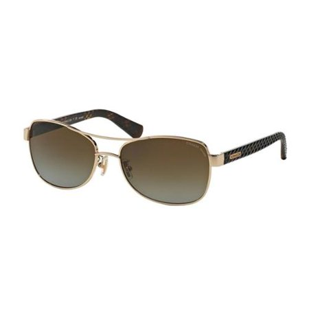 df24a46c16 Coach - Coach Women s HC7054 9209T5 Gold Metal Pilot Polarized ...