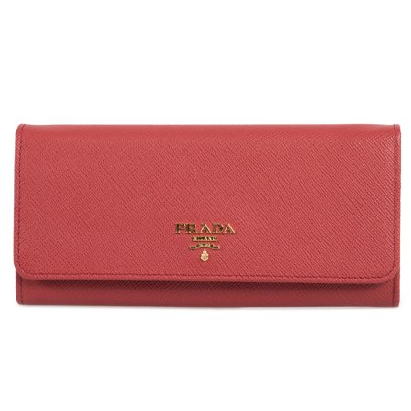 Prada Red Saffiano Leather Flap Wallet 1MH132 QWA (Red Pradas)