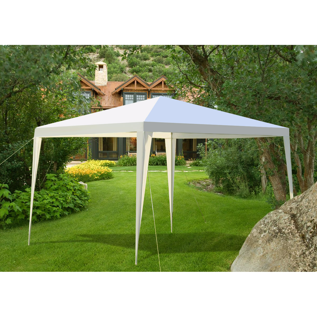 Gymax Outdoor Heavy Duty 10'x10' Canopy Party Wedding Tent Gazebo Pavilion Cater Event by Gymax