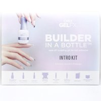 ORLY GELFX Builder In A Bottle Intro Kit Free Glitz Crystal Glass File 5.5 in Fuschia