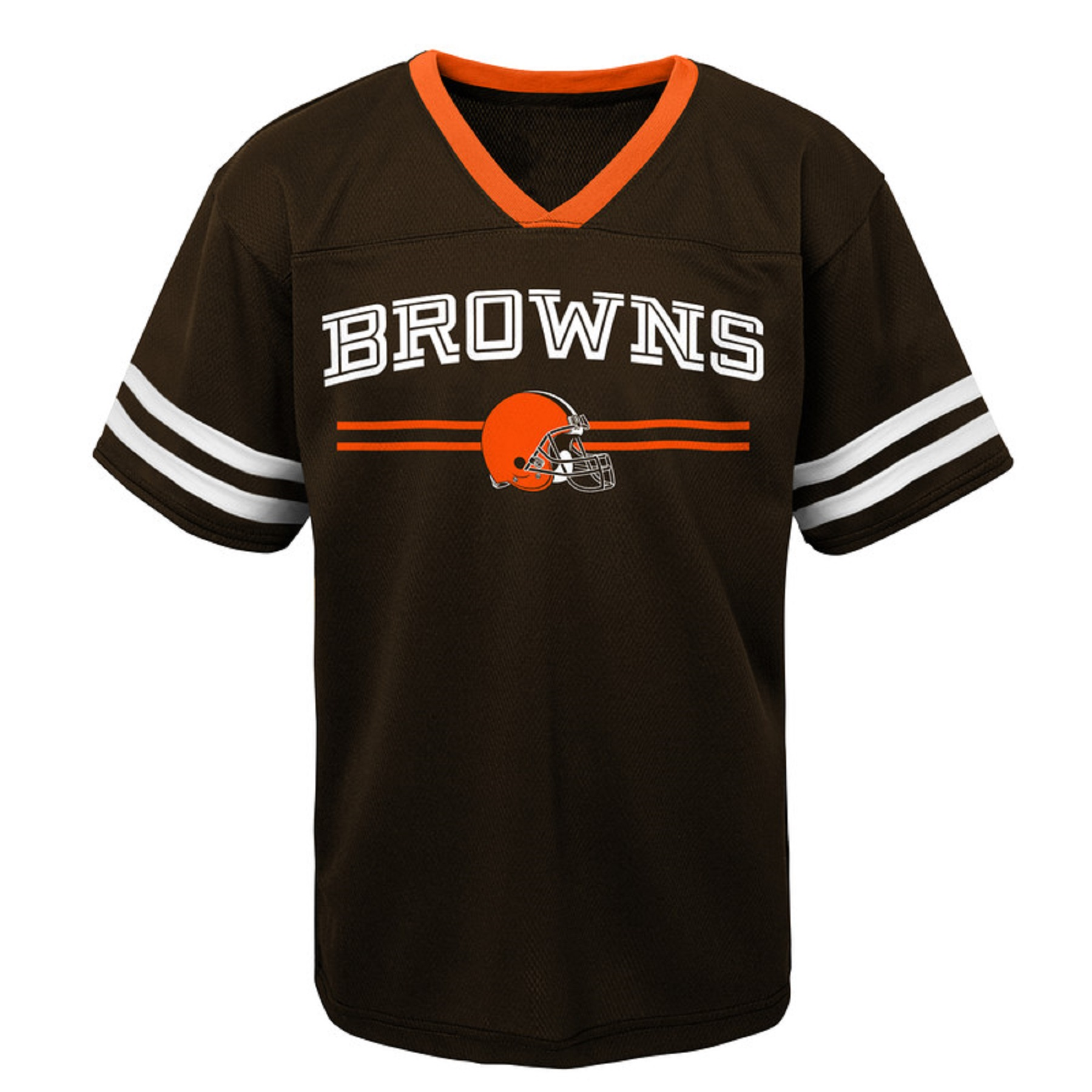 Youth Brown Cleveland Browns Mesh V-Neck T-Shirt
