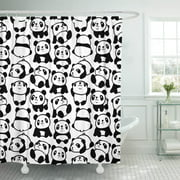 PKNMT Cute of Pandas Pattern Baby Bear China Kids Shower Curtain 60x72 inches