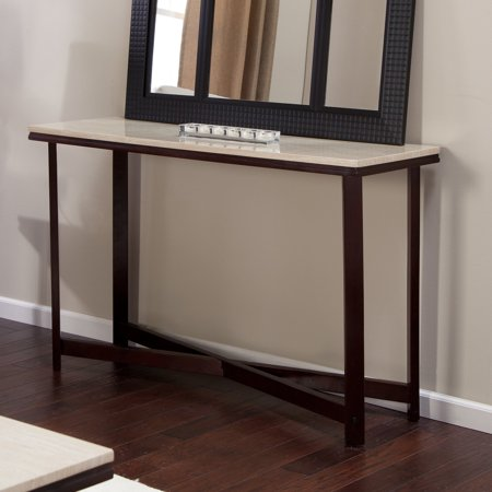 avorio faux travertine console table. Black Bedroom Furniture Sets. Home Design Ideas