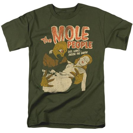 Costumes For 7 People (Trevco Sportswear UNI1270-AT-3 Universal Monsters & The Mole People-Short Sleeve Adult 18-1 T-Shirt, Military Green -)