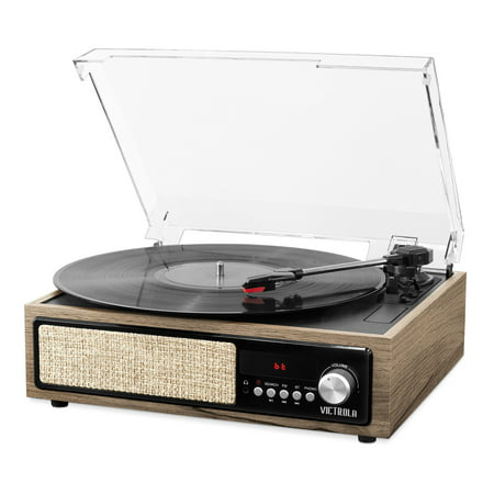 Victrola 3-in-1 Bluetooth Record Player with Built in Speakers and 3-Speed