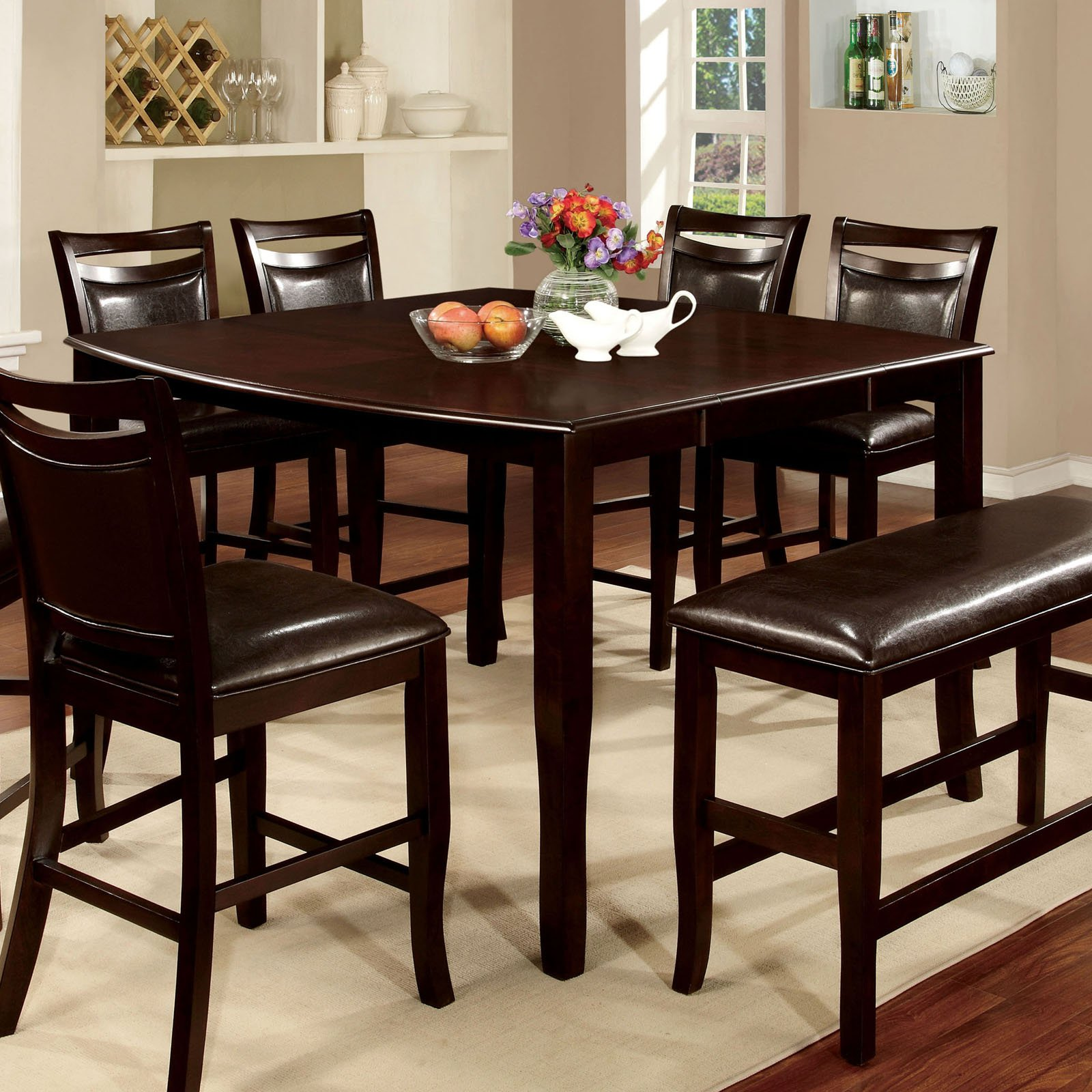 Furniture of america ridgeway square counter height dining table furniture of america ridgeway square counter height dining table walmart watchthetrailerfo