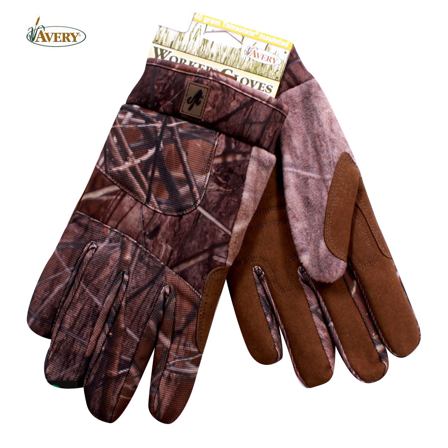 Avery Outdoors Worker Insulated Gloves (M) - Buck Brush