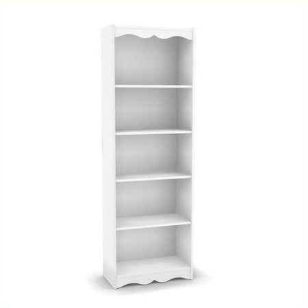 """Atlin Designs 72"""" Tall Bookcase in Frost White"""