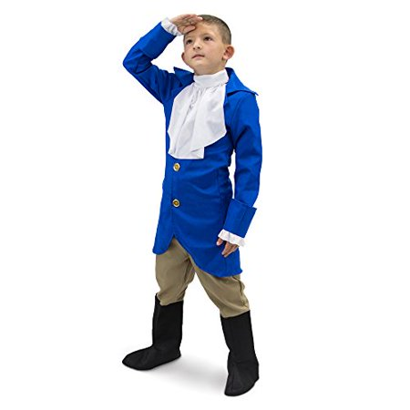 George Washington Children's Costume (Boo! Inc. George Washington Children's Boy Halloween Dress Up Roleplay)