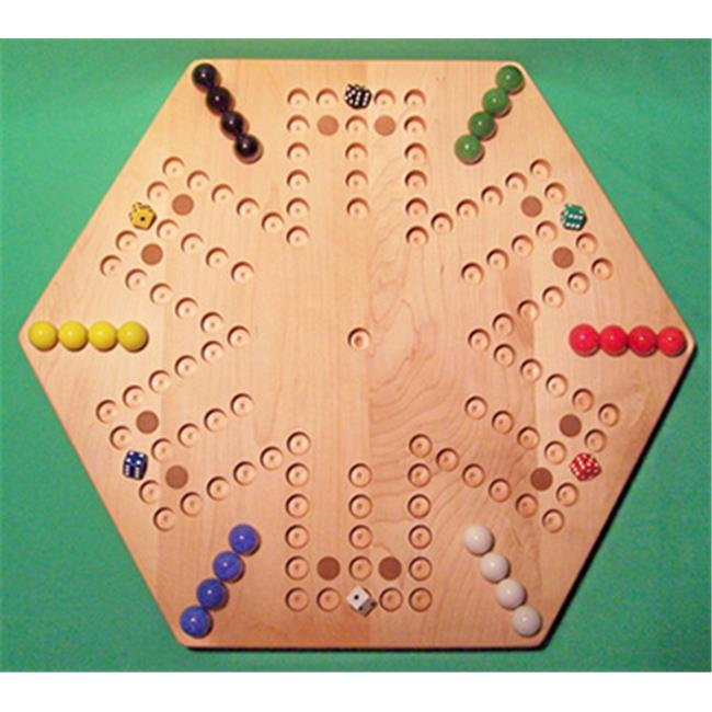 Charlies Woodshop W-1937alt.-1 Wooden Marble Game Board Hard Maple with 12 Birch Inlaid... by Charlies Woodshop