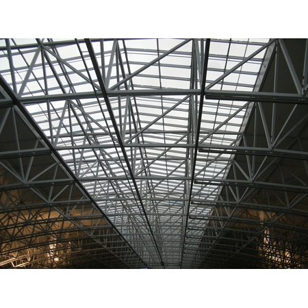 Laminated Poster Hall Roof Airport Architecture Modern Metal Poster Print 24 X 36