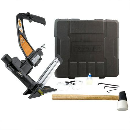 Hardwood Flooring Stapler - Freeman PFL618BR Pneumatic 3-in-1 Flooring Nailer & Stapler with Case