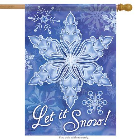 Snowflake Splendor Winter House Flag Decorative Double Sided 28
