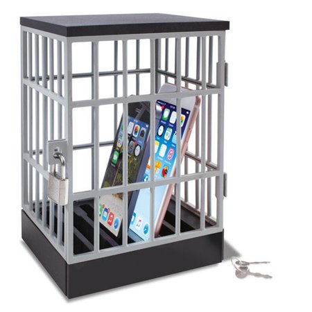 Classroom Party Ideas (Mobile Phone Jail Cell Phones Prison Lock Up Safe Smartphone Stand Holders Classroom Home Table Office Storage Gadget -Family Time, Party Fun Novelty Gift)