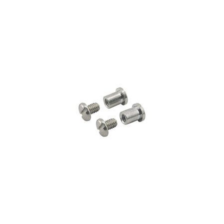 MACs Auto Parts 16-23190 Model T Ford Windshield Pivot Bolt & Nut Set - Chrome - 4 Pieces - For Closed Cars Only