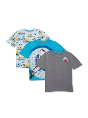 365 Kids from Garanimals Boys 4-10 Mix & Match Shark T-Shirt 3-Piece Multipack