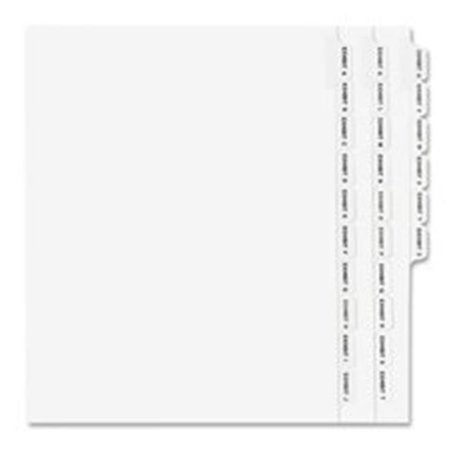 - Consumer Products  Legal Dividers- Alphabetical A-Z- Side Tabs- 11in.x8-.50in.
