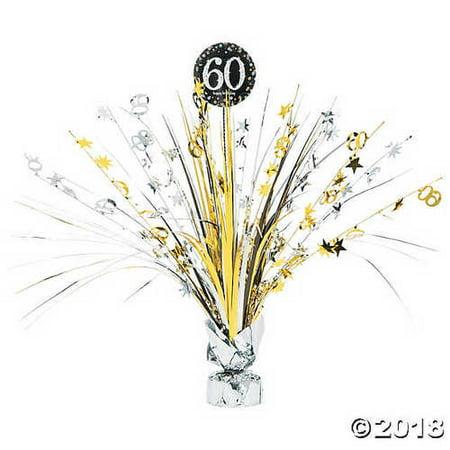 60th Birthday Table Centerpieces (Sparkling Celebration 60th Birthday)