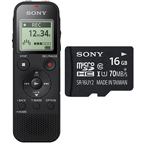Sony ICD-PX470 Stereo Digital Voice Recorder w/ Built-In USB & 16GB Micro SD