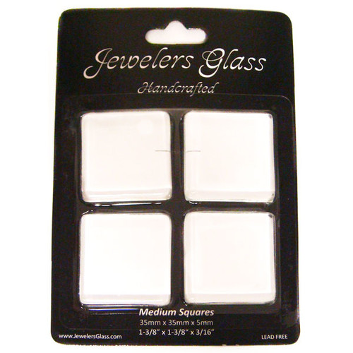 Wholesalers USA 4 Piece Medium Squares Jeweler's Glass Set