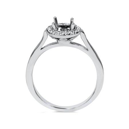 Diamond Engagement Ring Semi Mount 14K White Gold - image 2 of 4
