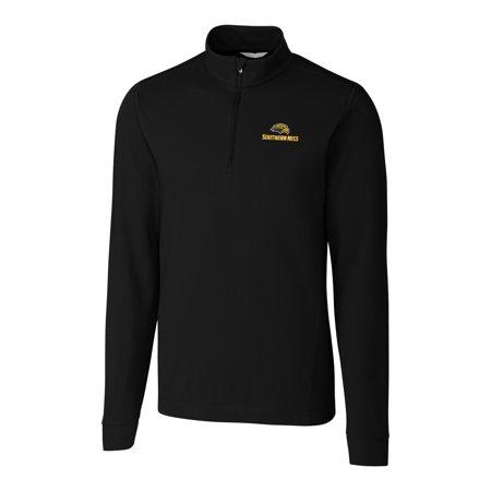 Southern Mississippi Golden Eagles Cutter & Buck Big & Tall Advantage 1/4-Zip Mock Neck Pullover Sweater - Black 1/4 Zip Mock Neck Pullover