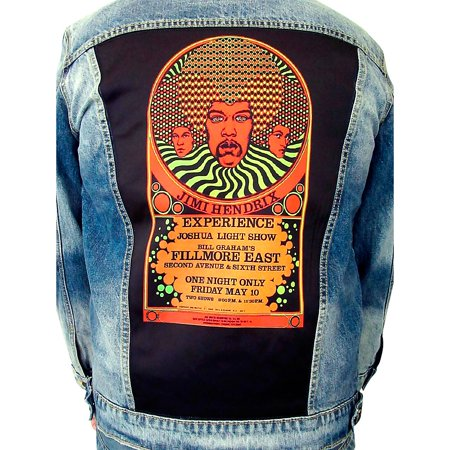 Jimi Hendrix Jacket (Dragonfly Clothing Jimi Hendrix Experience 3 Faces - Psychedelic Denim Jacket X)
