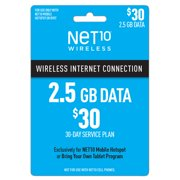 Net10 $30 Mobile Hotspot 30-Day Plan e-PIN Top Up (Email Delivery)