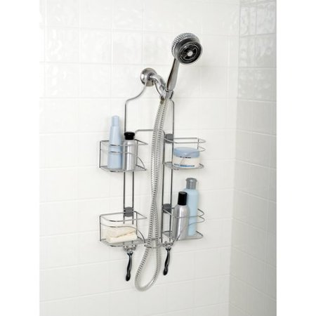 - Zenna Home Expandable Over-the-Shower Caddy, Chrome