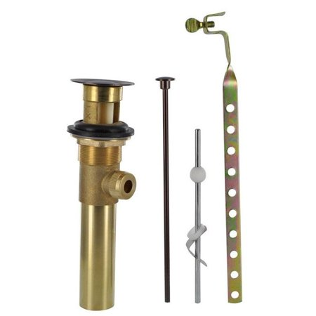 Bronze Ashfield Drain Assembly - 1 1/2 in. Metal Pop-Up Drain Assembly wiht Lift Rod & Overflow in Oil Rubbed Bronze