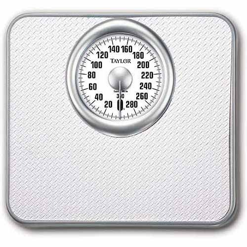 Taylor Mechanical Analog Bath Scale, White Model 4832