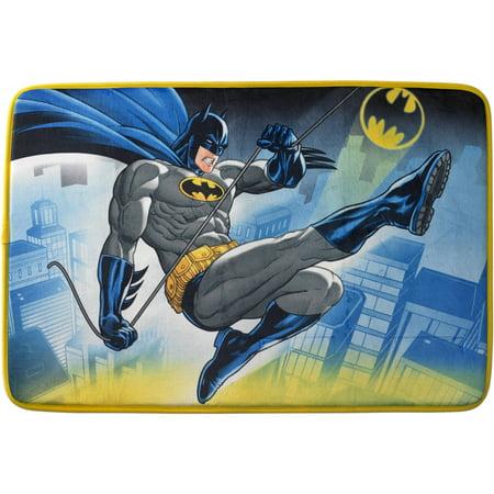 Batman Foam Bath Rug, 20in x 30in, Kids Bathroom, 1 Each ()