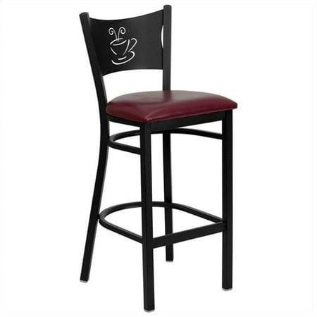 """Flash Furniture Hercules 31"""" Black Back Metal Bar Stool in Burgundy - image 2 de 3"""