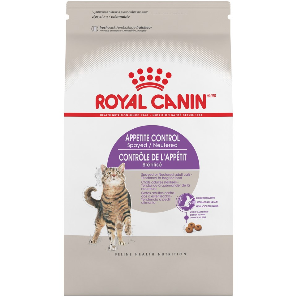 Royal Canin Feline Health Nutrition Spayed/Neutered Appetite Control Dry Cat Food, 6 lb