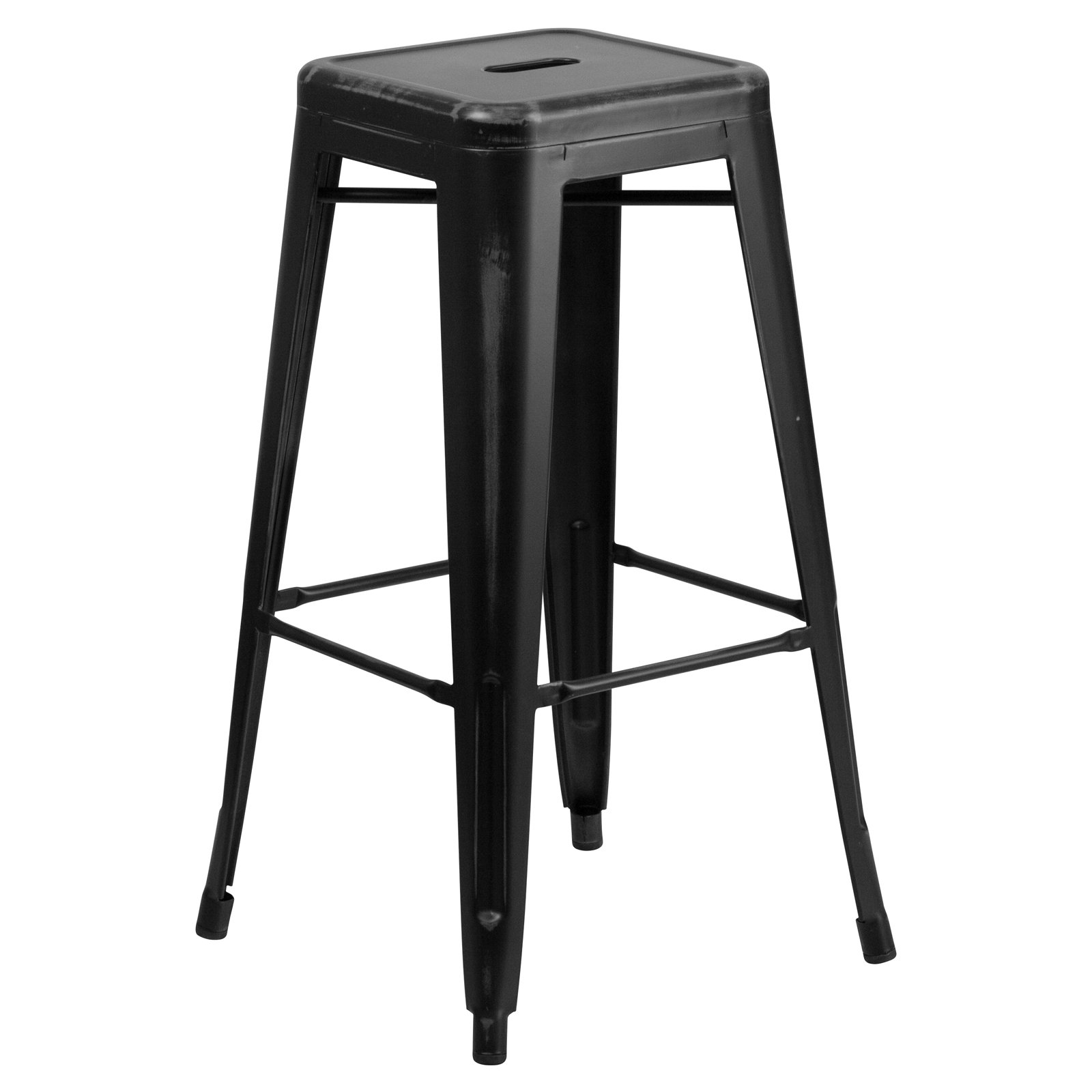 distressed metal furniture. Contemporary Metal Flash Furniture 30u0027u0027 High Backless Distressed Metal IndoorOutdoor Barstool  Multiple Colors With B