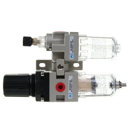 "0.05-0.85Mpa Air Pressure Regulator Oil/Water Separator Trap Filter Airbrush Compressor 1/4"" for Pneumatic Tools and Equipment - image 3 de 11"