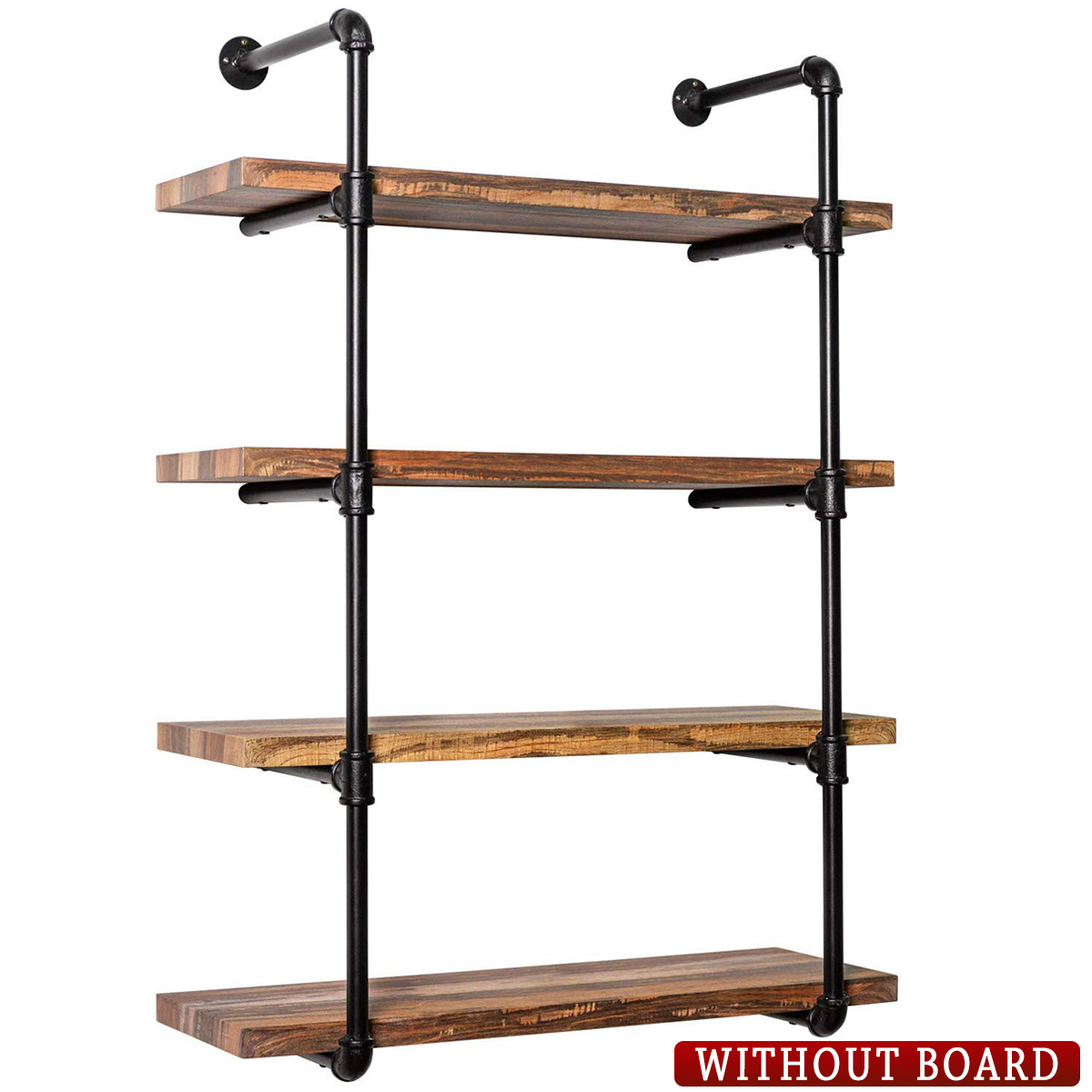 S morebuy 20 20 Tier Industrial Vintage Retro Pipe Shelving Brackets Without  Shelves, Wall Mounted Rustic Metal Floating Shelves, Book Shelves, Wall ...