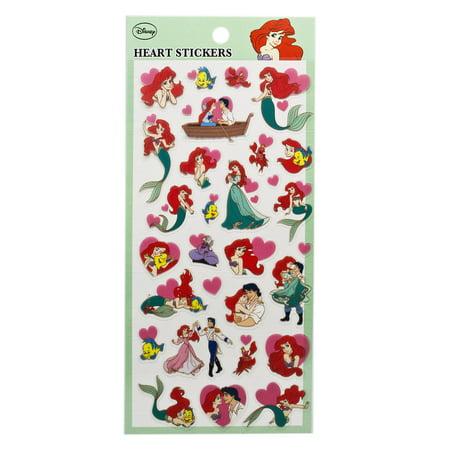Disney's The Little Mermaid Princess Ariel Hearts Sticker Set (Ariel Scrapbooking)