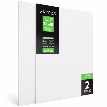Arteza 36  X 48  Stretched Canvas  Pack Of 2